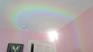 rainbow on ceiling